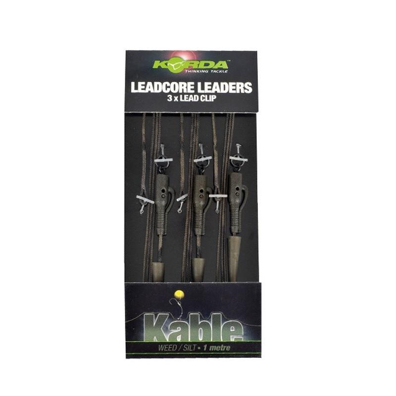 Korda Leadcore Leaders - 3 hybrid lead clip