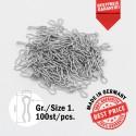 100 x Gr.1 Edelstahl Ösen für Do-it, Your Mold Bleigussform Stahlösen