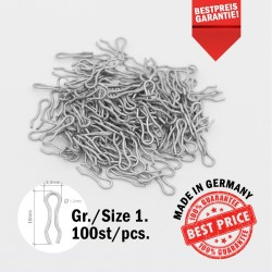 100 x Size 1 Stainless Steel Mould Loops - Sinker Mould Eyes - Lead Making - Wire Eyes